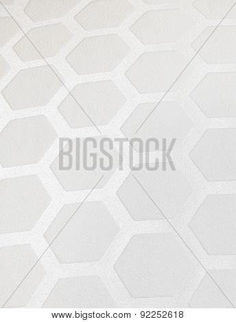 White Hexagon Pattern Background