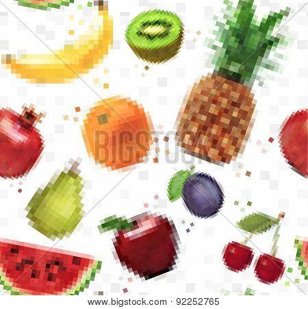 Pattern pixel fruits