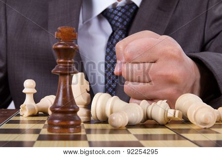 Businessman Losts The Chess Game