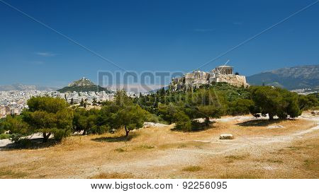Acropolis and Lycabettus Hill.