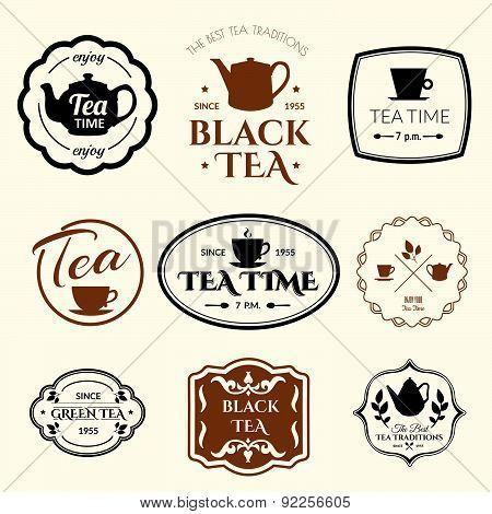 Vector Illustration On White Background With Tea Logo.