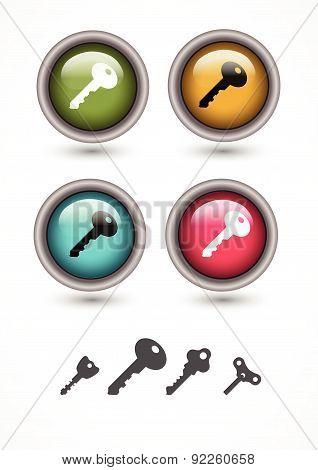 Vector Illustration With  Keys.