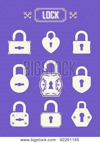 Vector Illustration Of Locks.