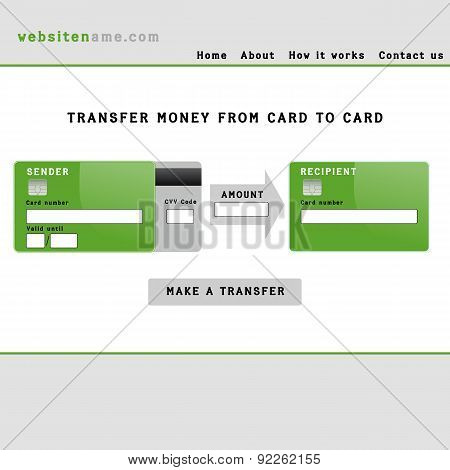 Money Transfer Interface.