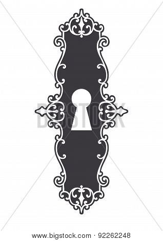 Vector Illustration Of Vintage Keyhole.