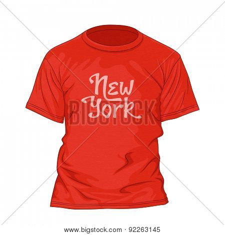 New York hand lettering. T-shirt design template with texture. Vector illustration