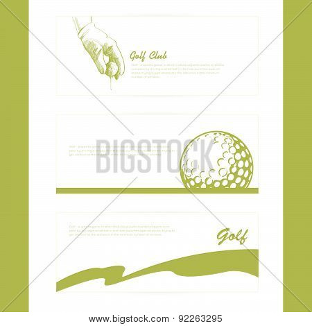 Vector Illustration With Simple Set Of Golf Poster