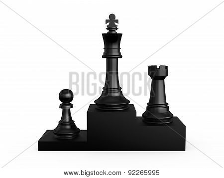 Chess Victory Podium
