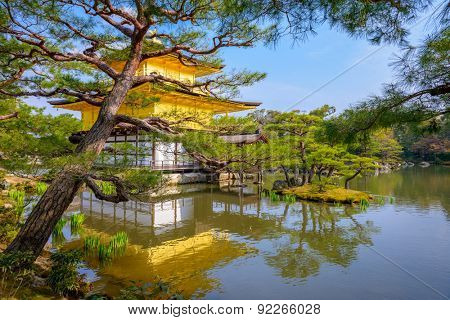 Kyoto, Japan at the Temple of the Golden Pavilion.