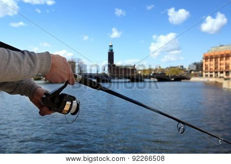 fishing Stockholm City