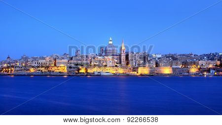 Valletta Skyline in the Evening, Malta