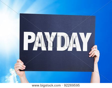 Payday card with a beautiful day