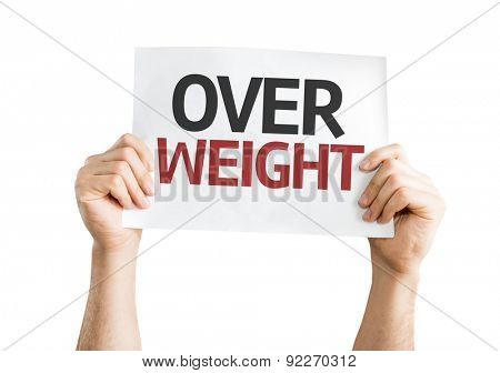Overweight card isolated on white