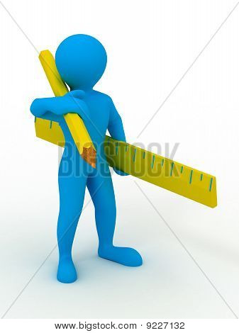 Men With Yardstick And Pencil