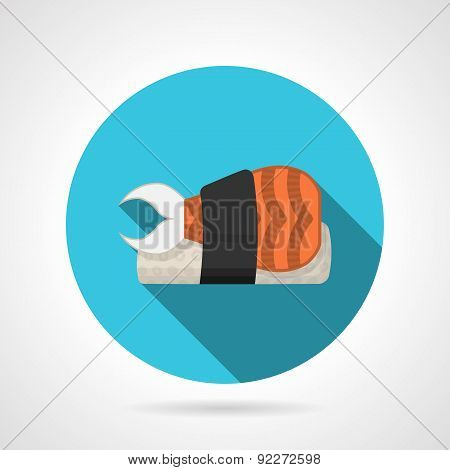 Flat color vector icon for sushi menu