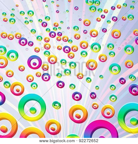 Abstract colorful bubbles background.