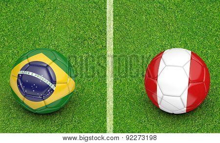 2015 Copa America football tournament, teams Brazil vs Peru