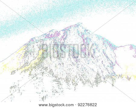 Outline of a mountain top