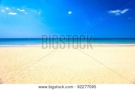 Tropical Beach And Blue Sky, Andaman Sea Thailand