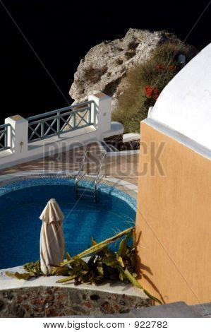 Villa con piscina en mar