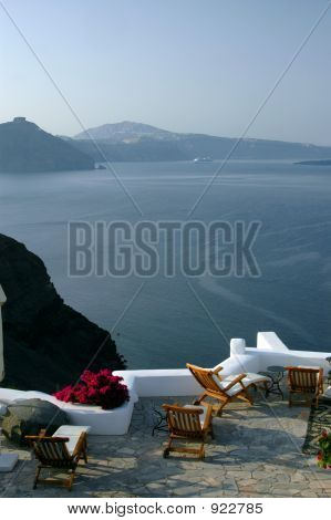 Incredible Santorini Patio With View