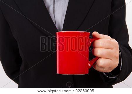Coffee Break Of Business Woman