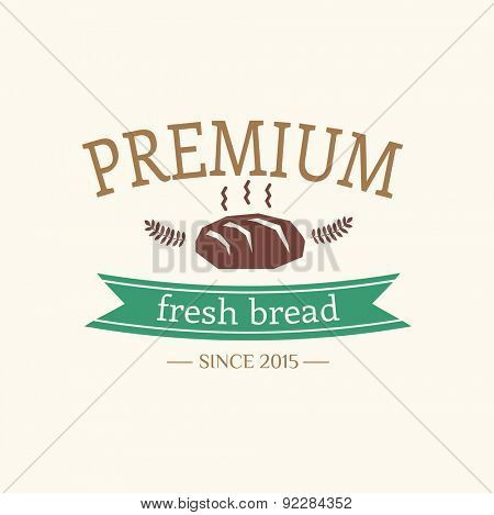 Abstract vector bread logo elements for food design