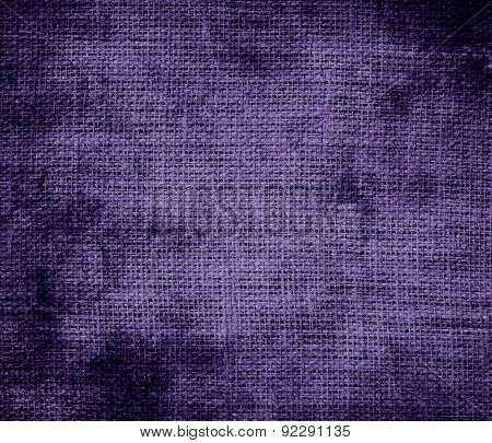 Grunge background of cyber grape burlap texture