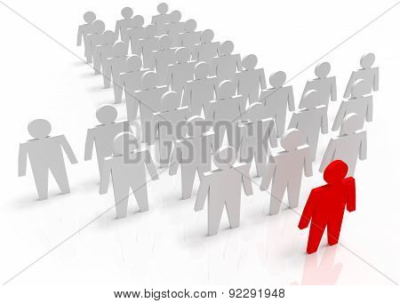Illustration Of Leader Leads The Team