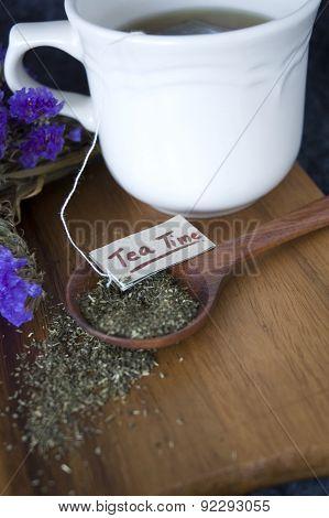 Close Up Tea On Spoon