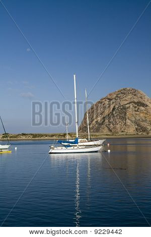 Morro Rock and yachts