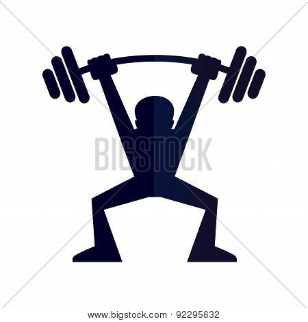 Man Lifiting A Weight Silhouette