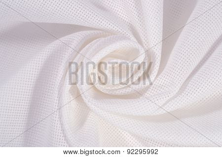 White Crumpled  Cotton Canvas For Needlework As Background