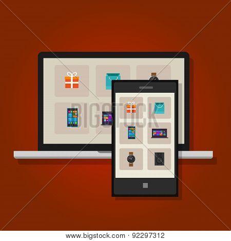 ecommerce online commerce retail shopping