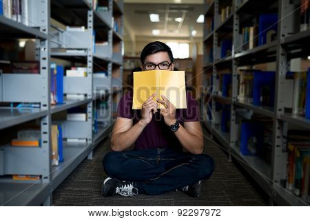 Covering Face With A Book