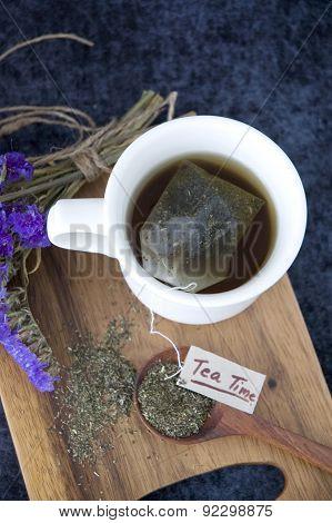 Tea Bag In Hot Tea Cup