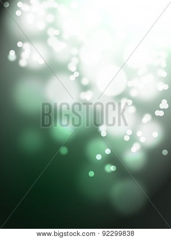 Twinkle Bokeh On Green