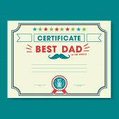 stock photo of certificate  - Happy fathers day card vintage retro - JPG