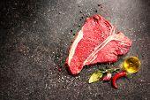 picture of rib eye steak  - Raw fresh meat T - JPG