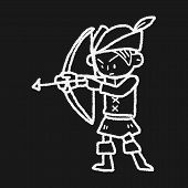 picture of archer  - Archer Doodle - JPG