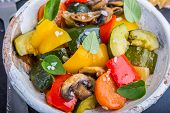 pic of stew  - vegetable stew with fresh vegetables ratatouille - JPG