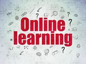 picture of online education  - Learning concept - JPG