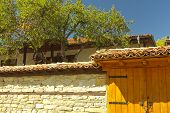 stock photo of unnatural  - Beautiful stylish old house close up view - JPG