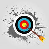 stock photo of archery  - background design on the theme of archery with a target - JPG