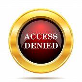 foto of denied  - Access denied icon - JPG