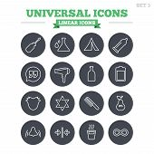 picture of universal sign  - Universal linear icons set - JPG