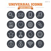 pic of universal sign  - Universal linear icons set - JPG