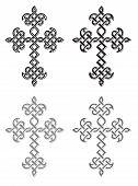 stock photo of apostolic  - Traditional Armenian Apostolic Church plaited crosses set - JPG