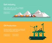 stock photo of salt mine  - Oil Offshore Platform and salt production - JPG