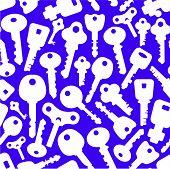 stock photo of skeleton key  - Seamless background of keys icons - JPG